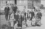 In front of Memorial Hall (Principal, Mr. Tench: third from right, middle row)