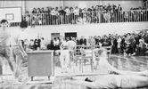 The Gymnasium included an auditorium and the formal opening took place on April 13